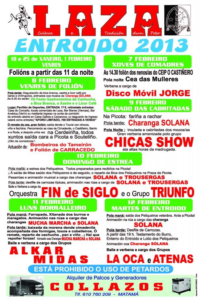 Programa Entroido Laza 2013