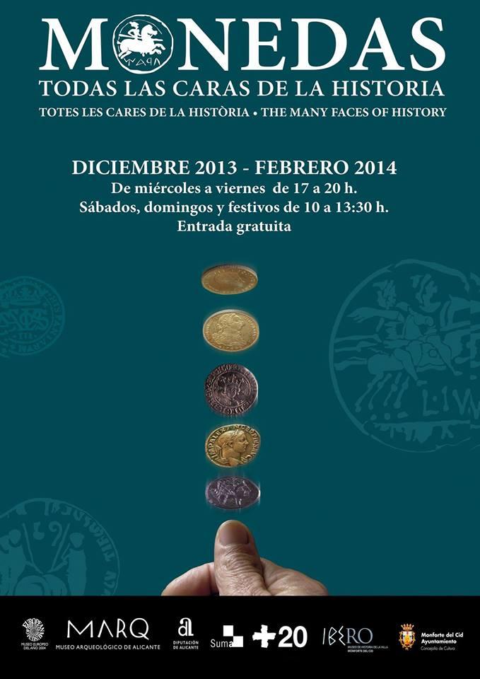 Cartel Expo monedas Monforte