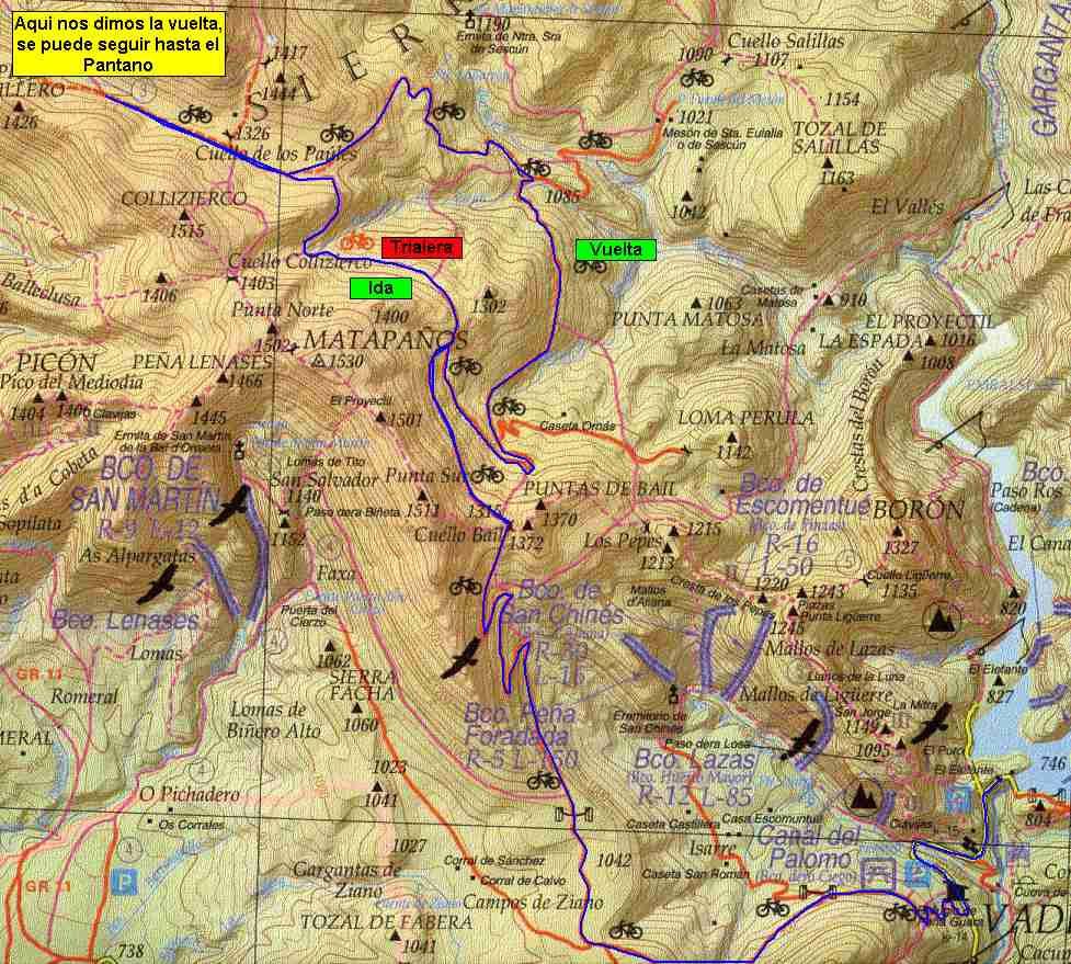 Ruta para ciclistas (fuente www.bikezona.com)